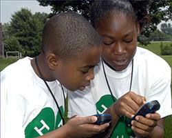 Youth-use-GPS