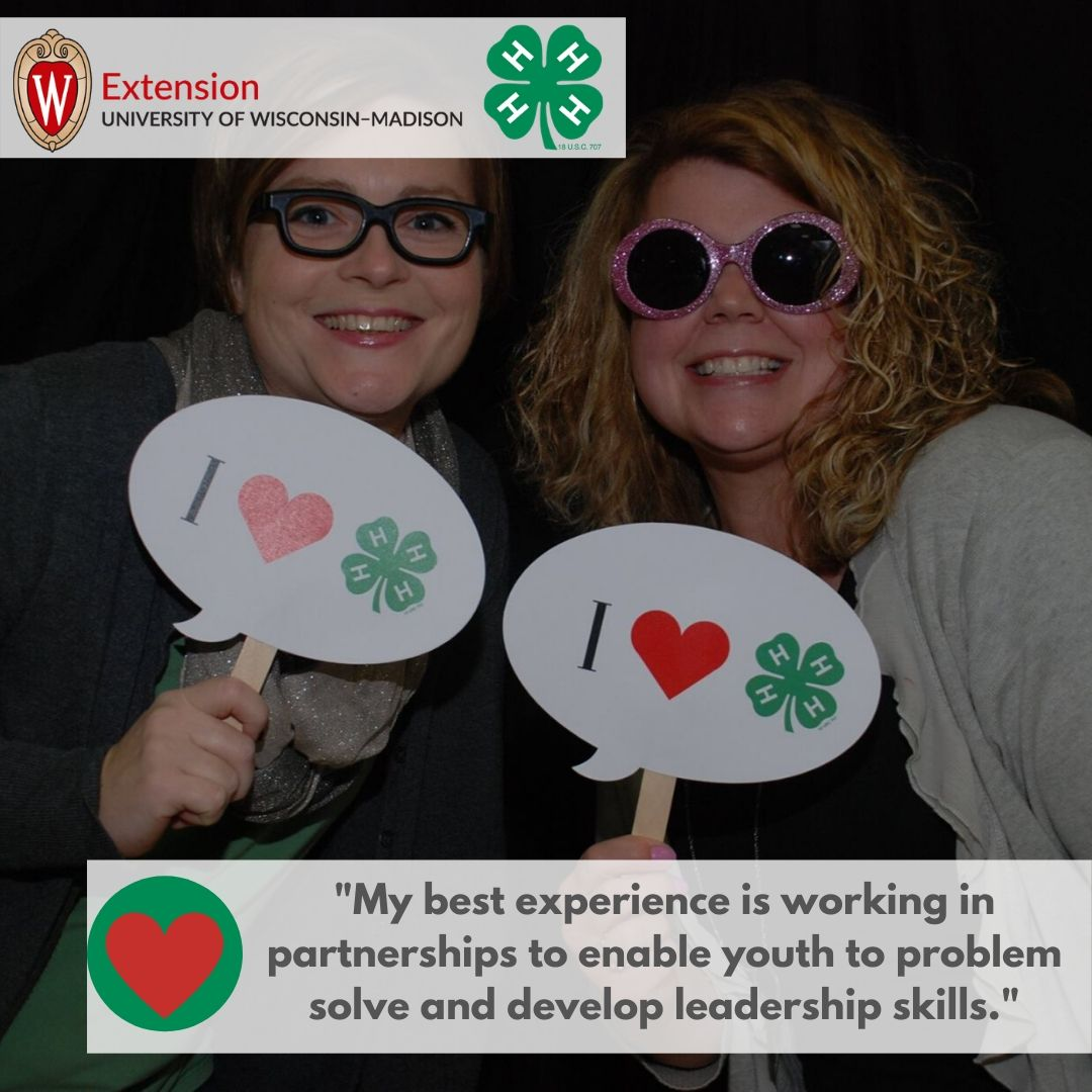 """""""My best experience is working in partnerships to enable youth to problem solve and develop leadership skills."""""""