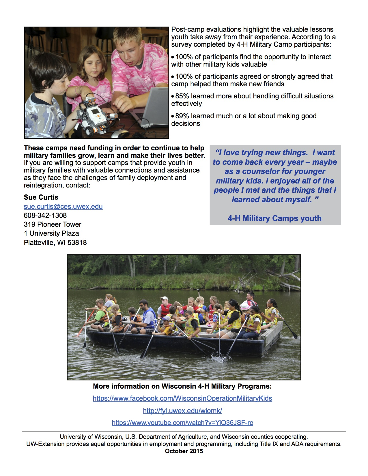 Military Camps Fundraising-pg2