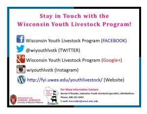 2015 Youth Livestock Resource postcard 2015